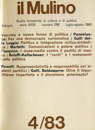 Copertina del fascicolo dell'articolo Sistemi partitici rappresentativi o responsabili nelle democrazie parlamentari