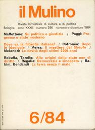 Copertina del fascicolo dell'articolo Lo stato moderno e l'idea di progresso