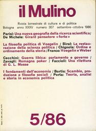 Copertina del fascicolo dell'articolo Voegelin e Weber: ambiguità e trasparenza