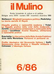 Copertina del fascicolo dell'articolo L'ideologia italiana
