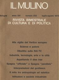 Copertina del fascicolo dell'articolo Il mito tra antropologia ed estetica