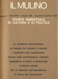 Copertina del fascicolo dell'articolo Per un discorso sull'uguaglianza