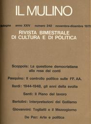 Copertina del fascicolo dell'articolo Interpretazioni politiche del Gollismo