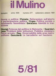 Copertina del fascicolo dell'articolo Fenomeni sociali e problemi di governo delle aree metropolitane